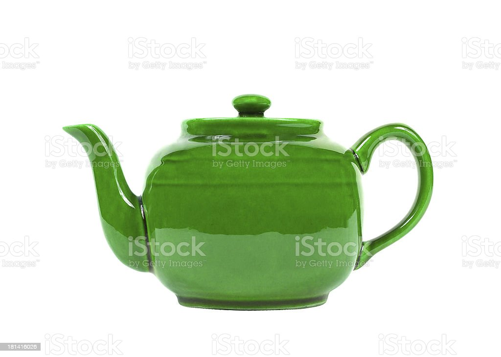 tea pot isolated stock photo