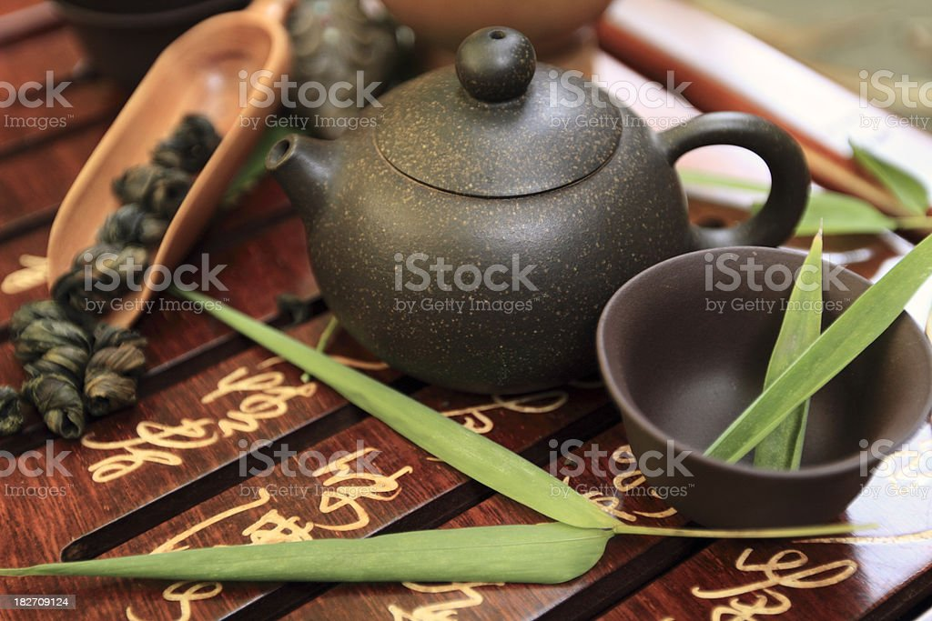 Tea Pot Selection stock photo