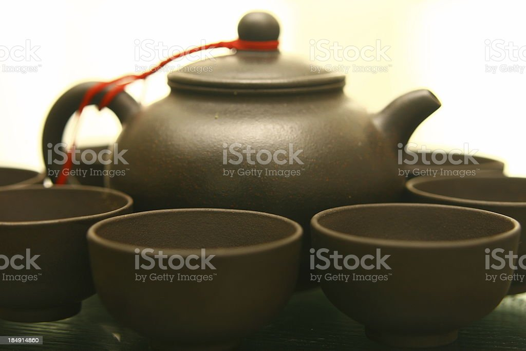 tea pot with cups royalty-free stock photo