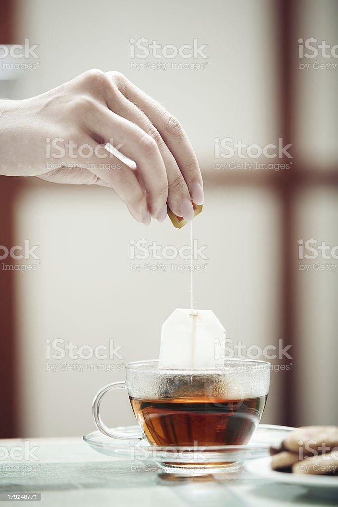 Tea preparation royalty-free stock photo