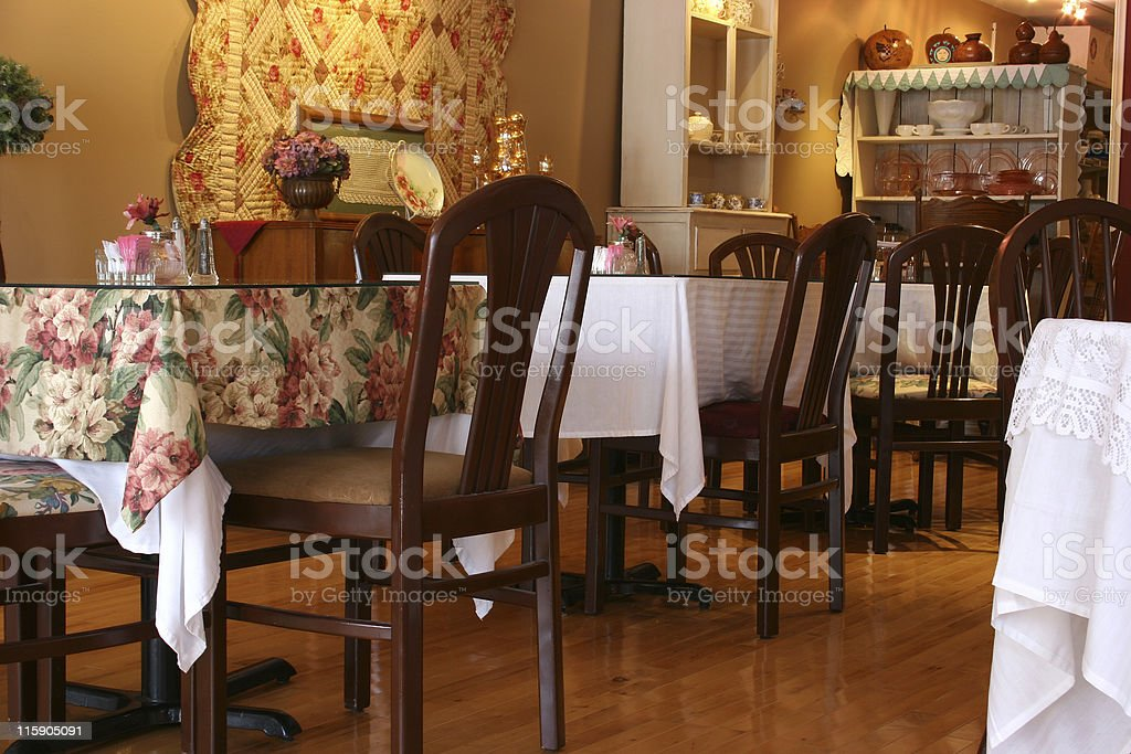 Tea room tables royalty-free stock photo