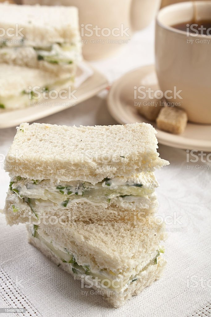 Tea Sandwiches stock photo