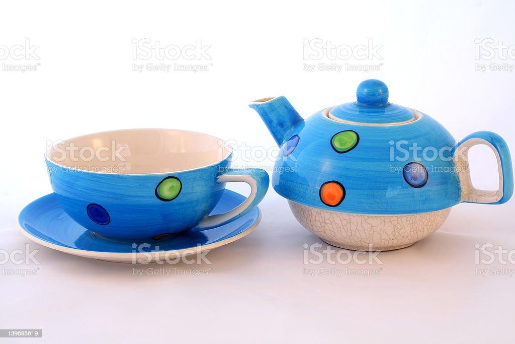 Tea set split. royalty-free stock photo