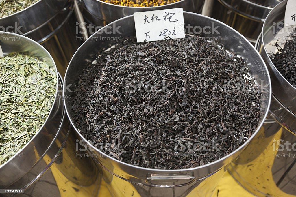 tea sold in market royalty-free stock photo