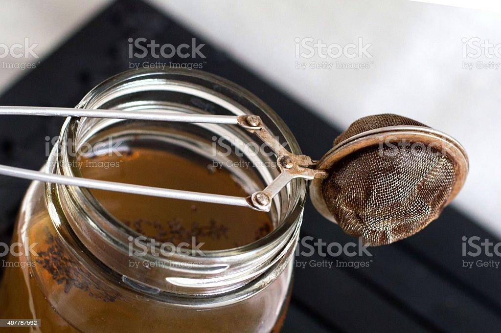 Tea Strainer Macro Shot stock photo