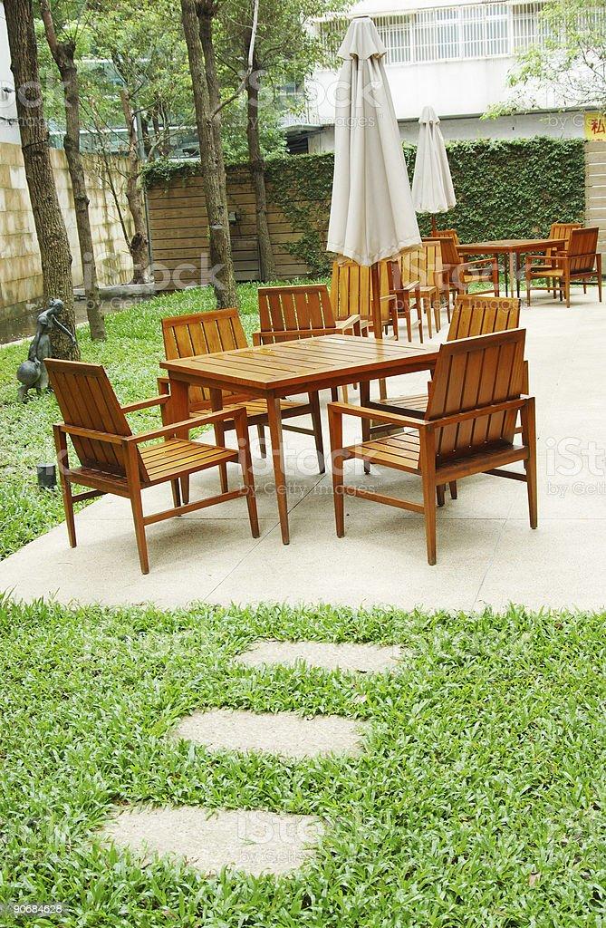 tea table, outdoor royalty-free stock photo