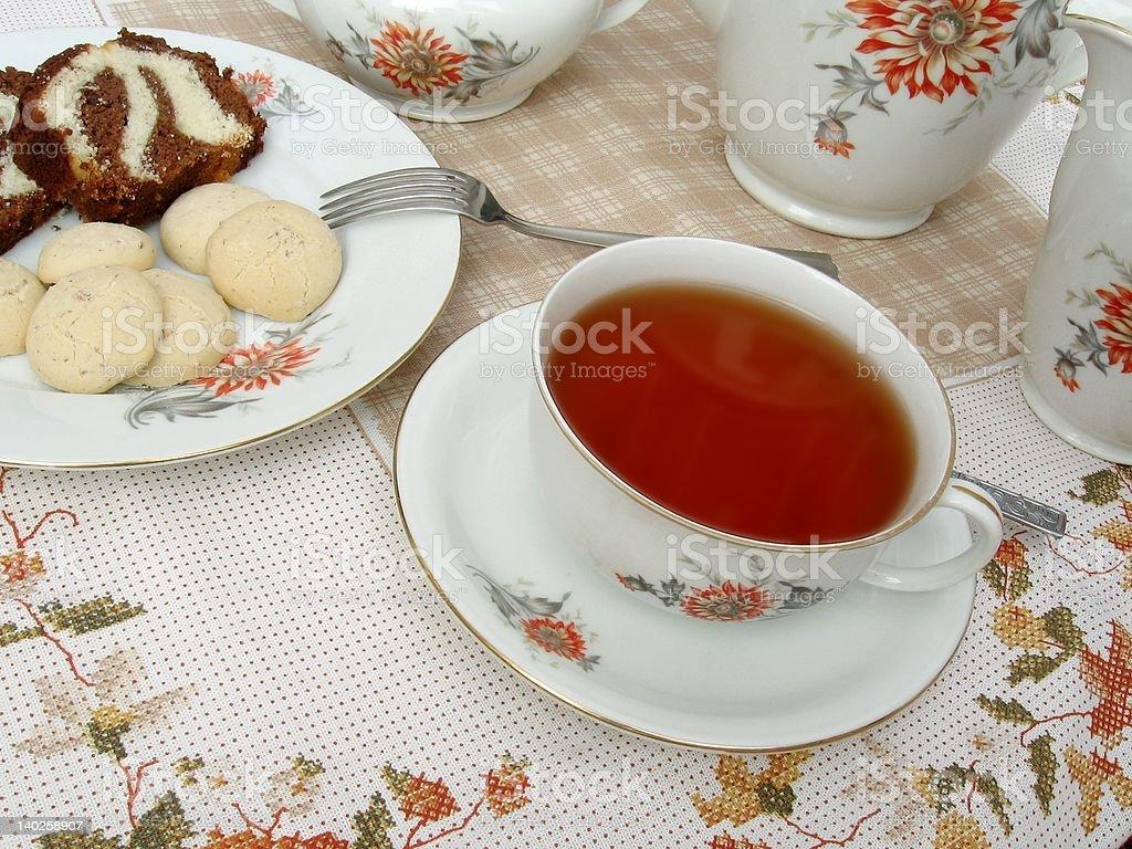 Tea time - 4 royalty-free stock photo