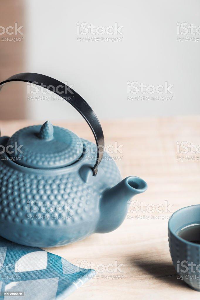 Tea time zen way, asian aesthetics. stock photo