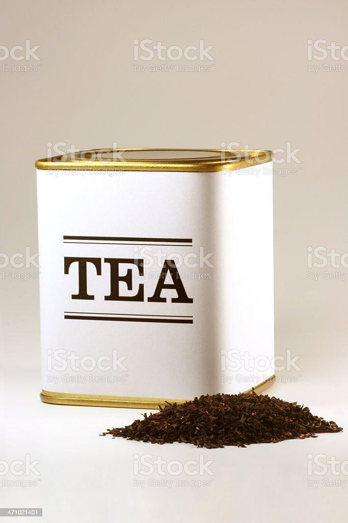 Tea tin royalty-free stock photo