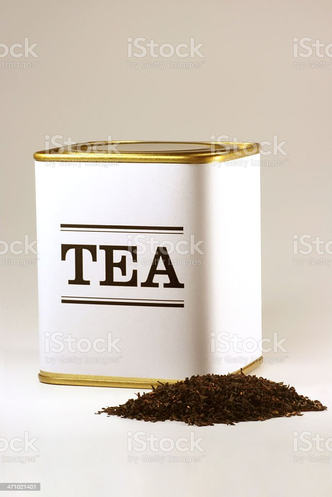 Tea tin stock photo