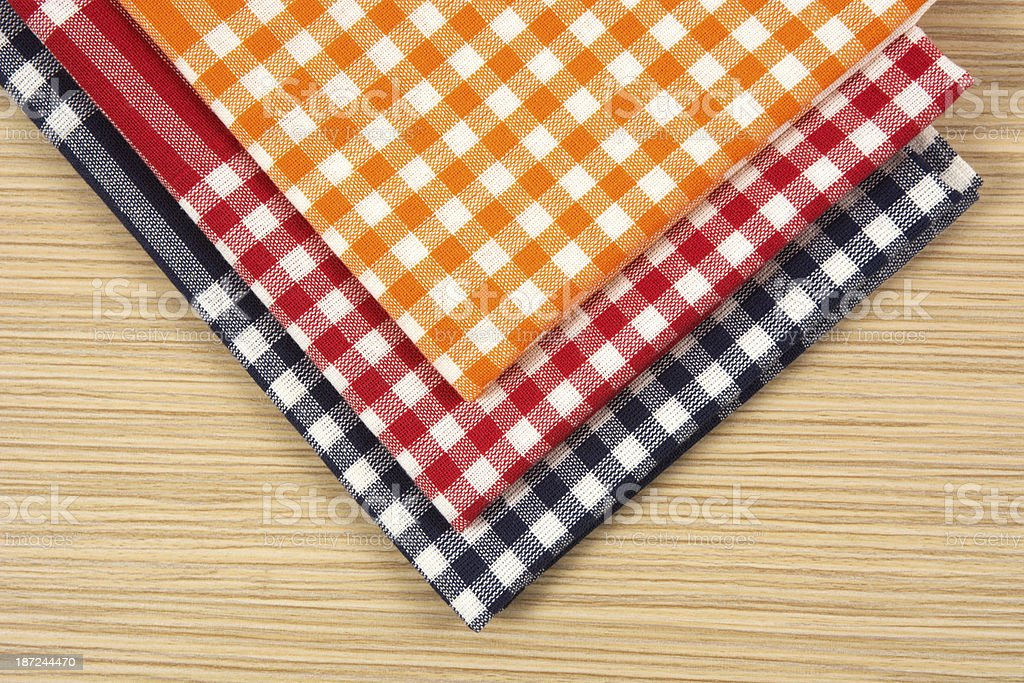 Tea towels on table royalty-free stock photo