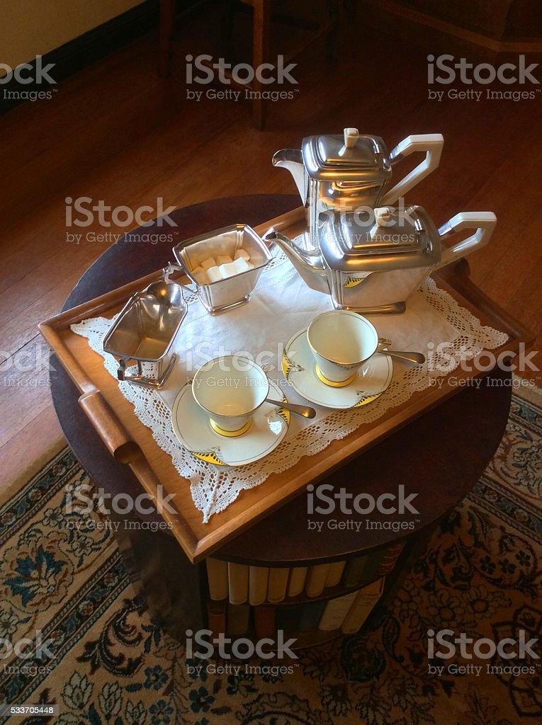 Tea Tray stock photo