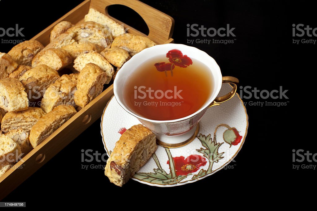 Tea with Biscotti. stock photo