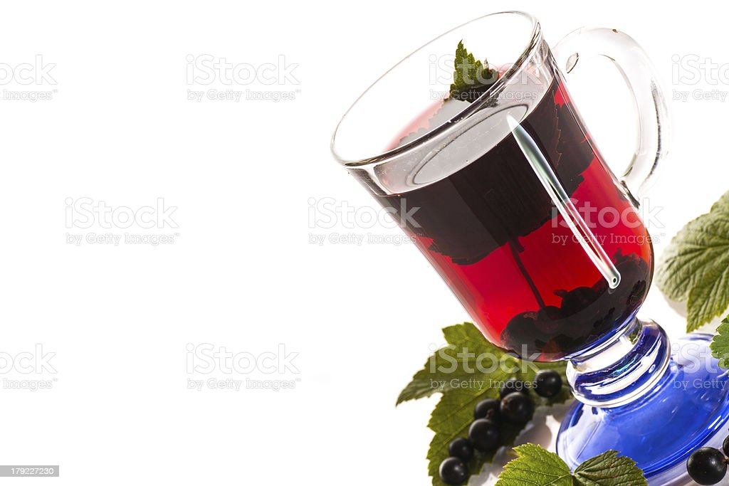 tea with black currants royalty-free stock photo