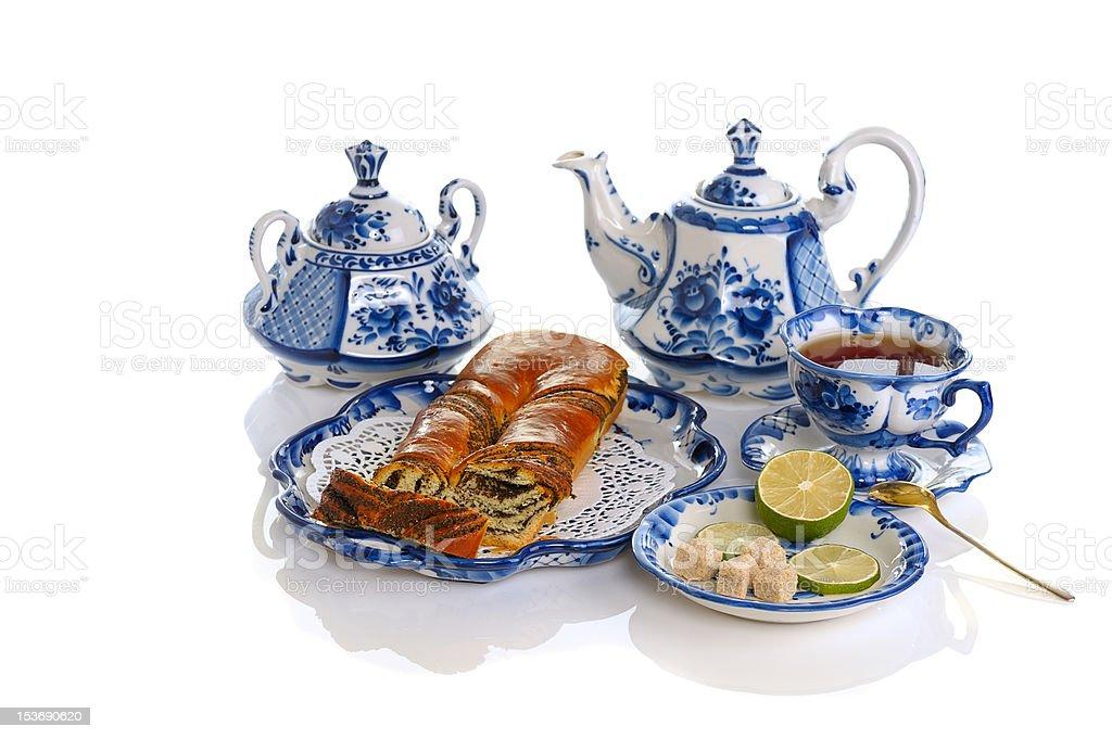 tea with cake royalty-free stock photo
