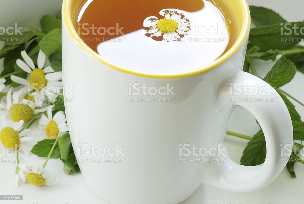 tea with chamomile royalty-free stock photo