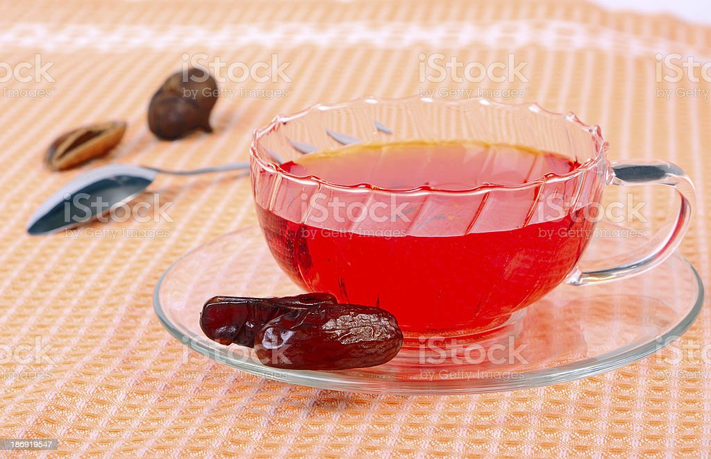 Tea with dates royalty-free stock photo