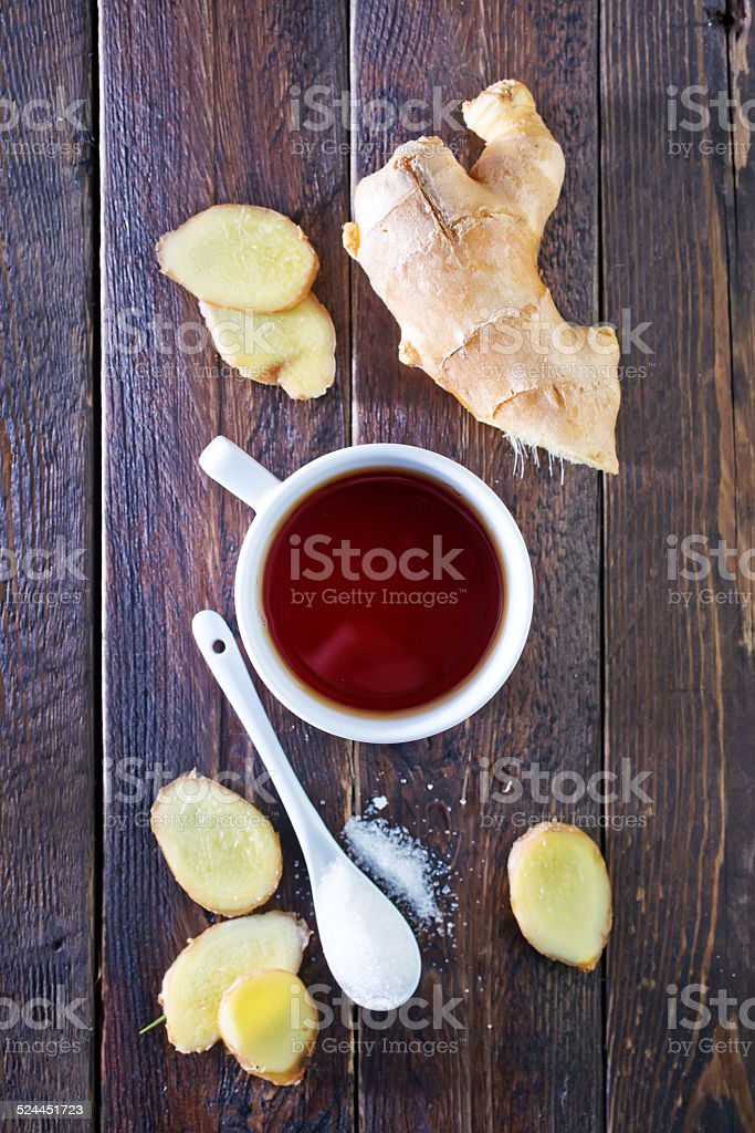 tea with ginger stock photo
