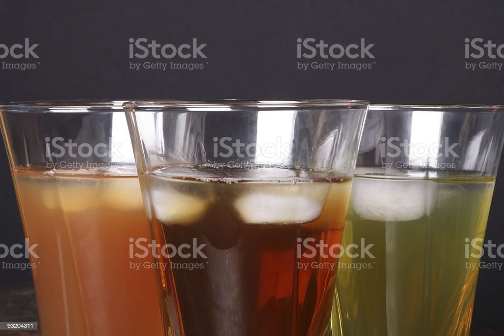 Tea with ice cubs royalty-free stock photo