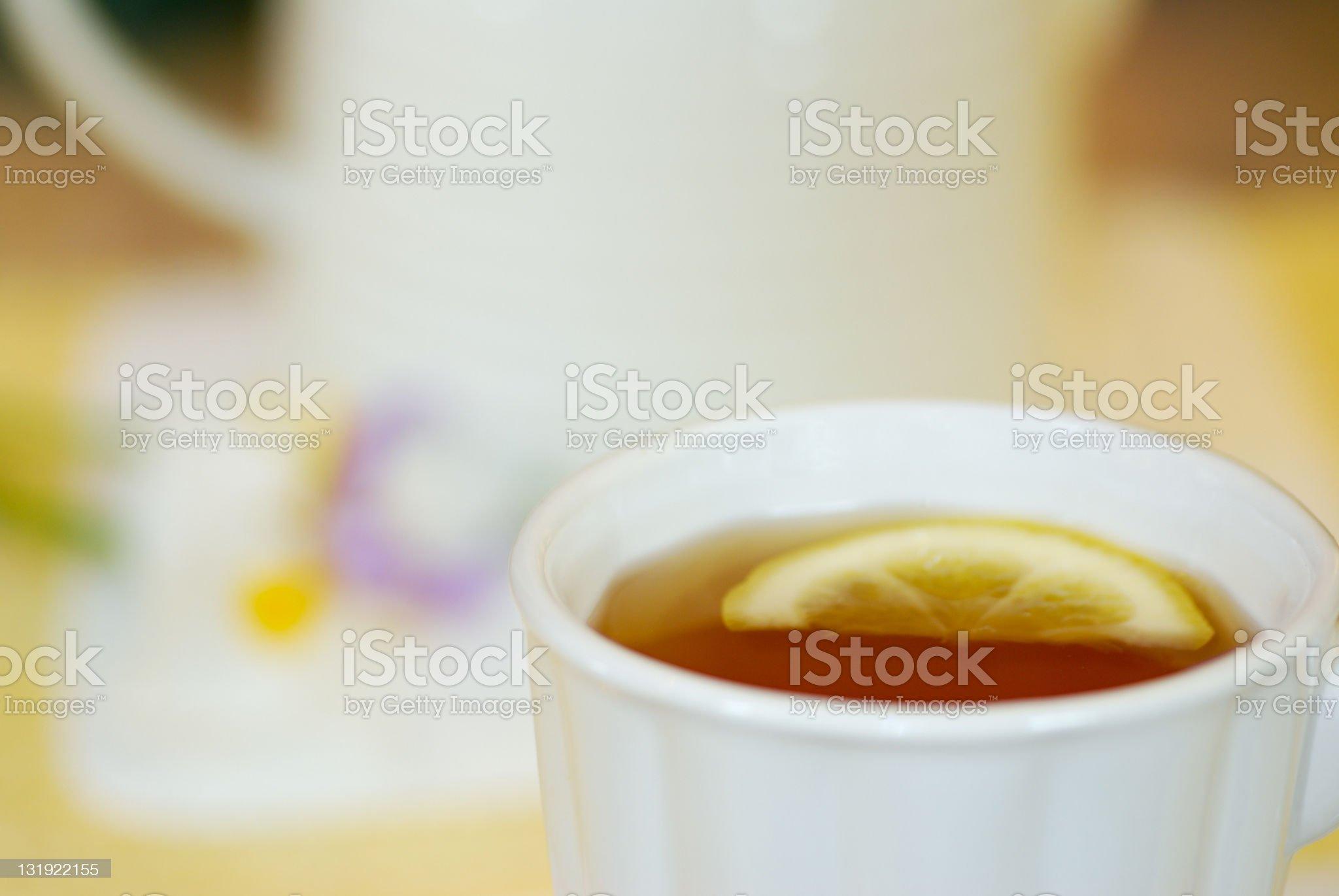 Tea With Lemon royalty-free stock photo