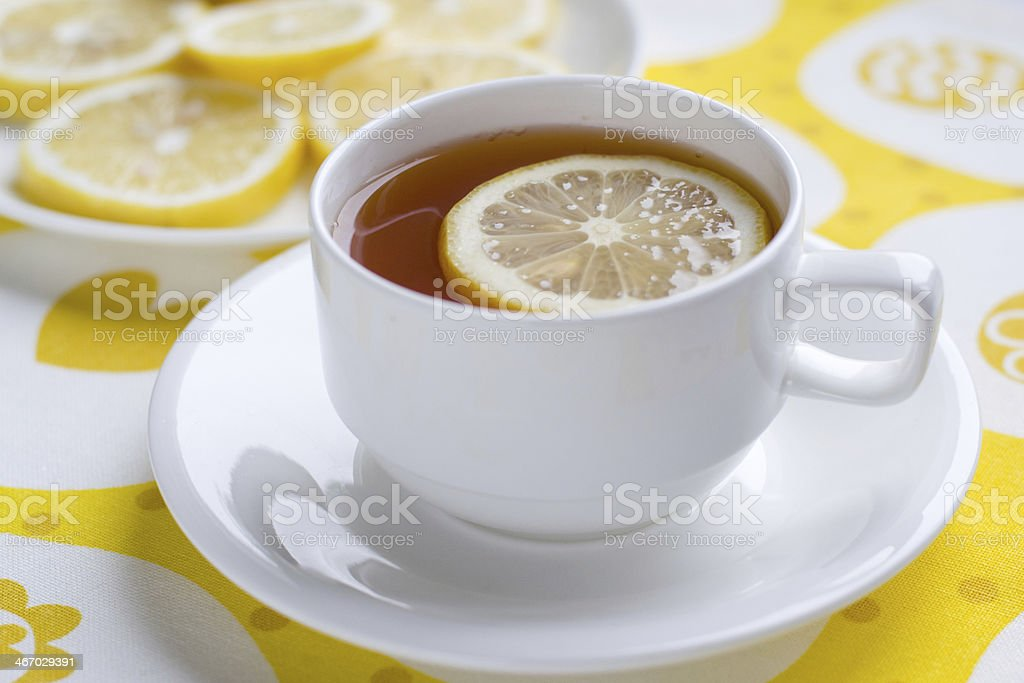 Tea with lemon. royalty-free stock photo