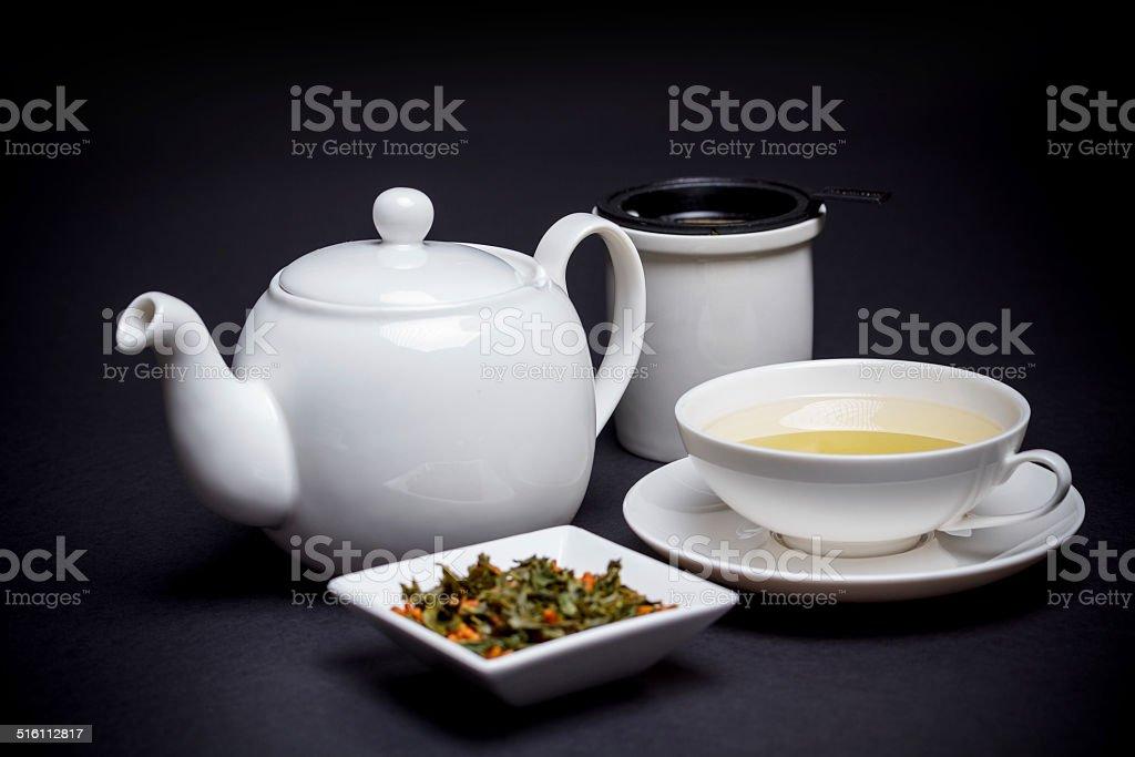 Tea with roasted rice stock photo