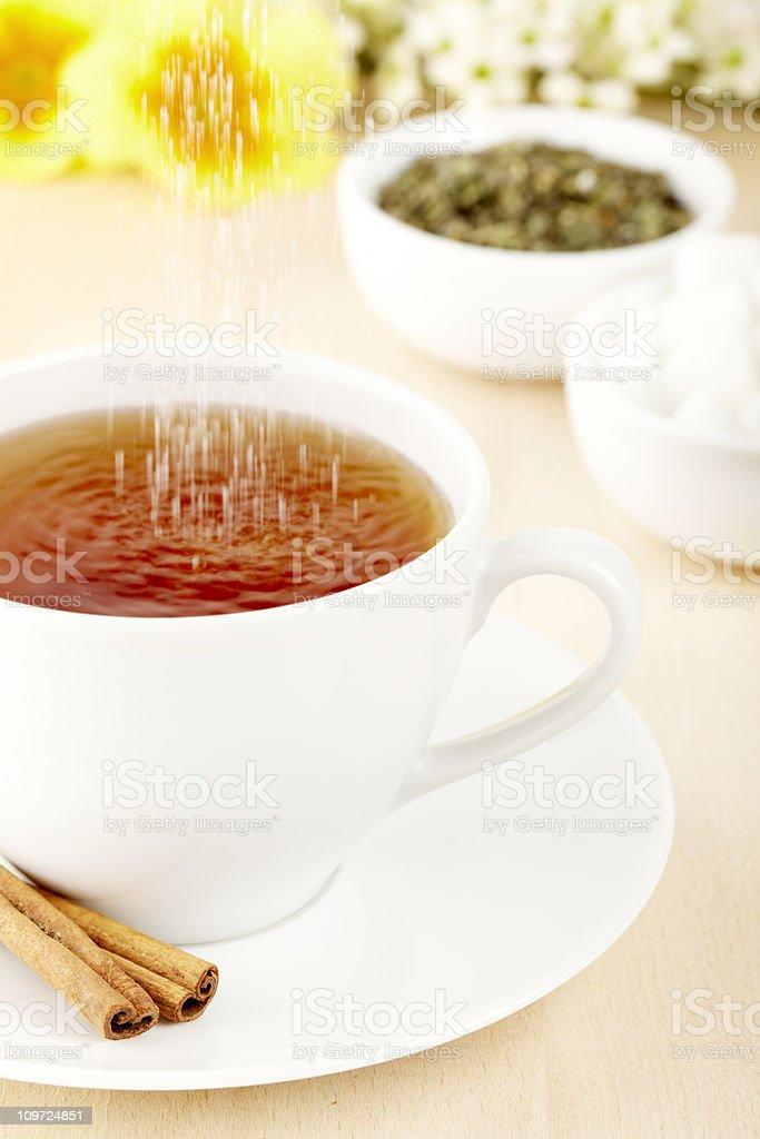 Tea with sugar royalty-free stock photo