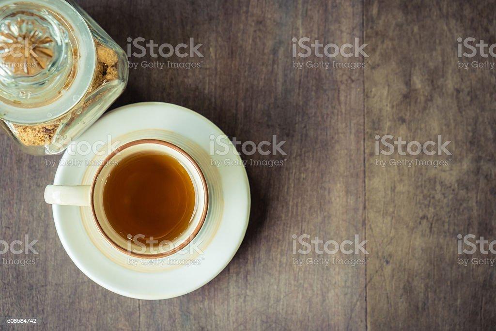Tea with sugar stock photo