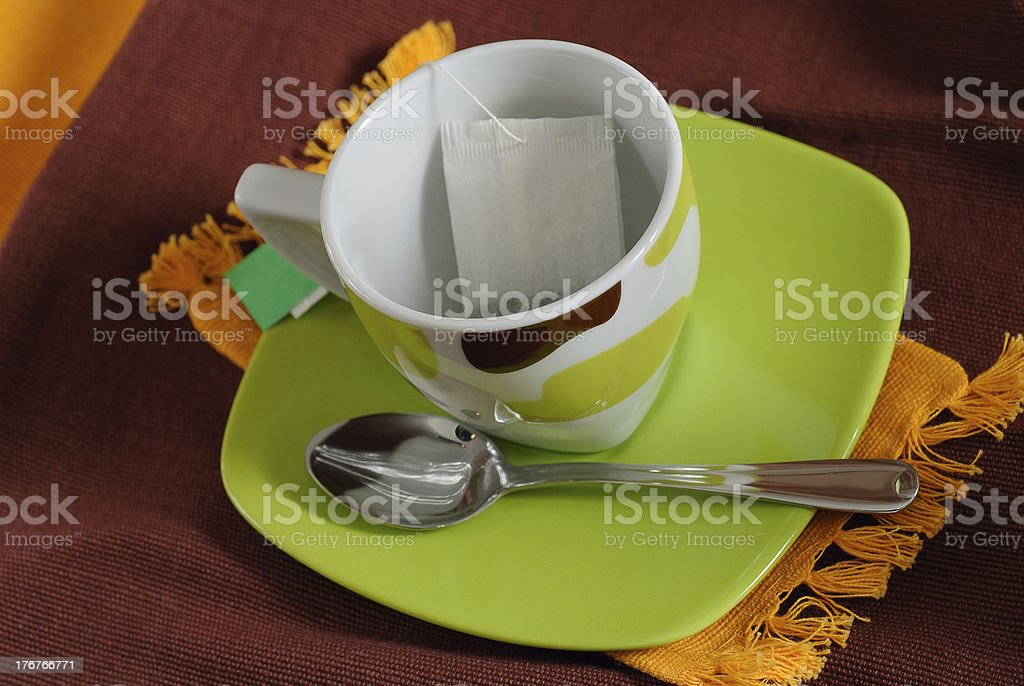 teabag in teacup royalty-free stock photo