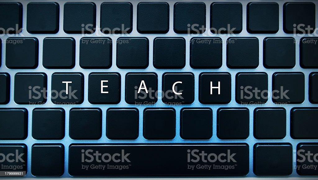 Teach computer royalty-free stock photo
