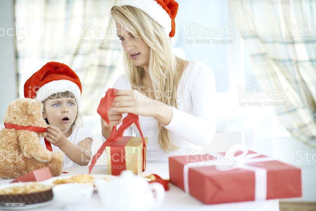 Teach me, mommy! royalty-free stock photo
