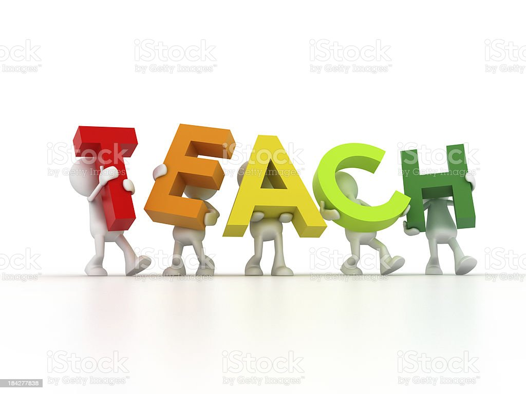 teach team royalty-free stock photo
