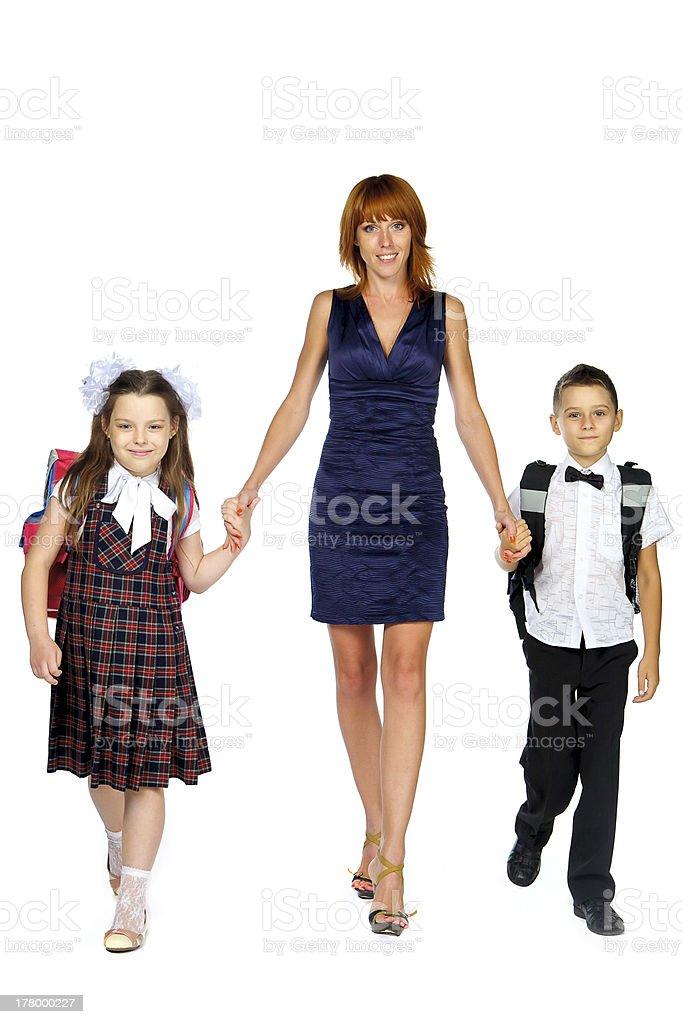 teacher and children royalty-free stock photo