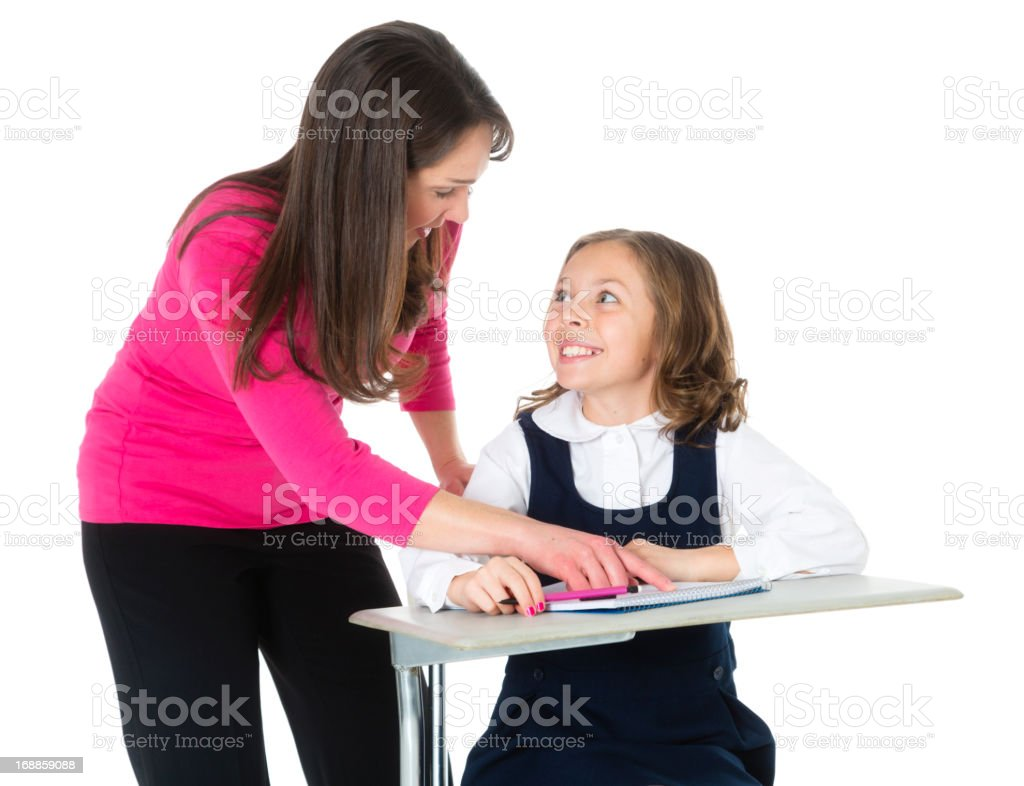 Teacher and Student royalty-free stock photo