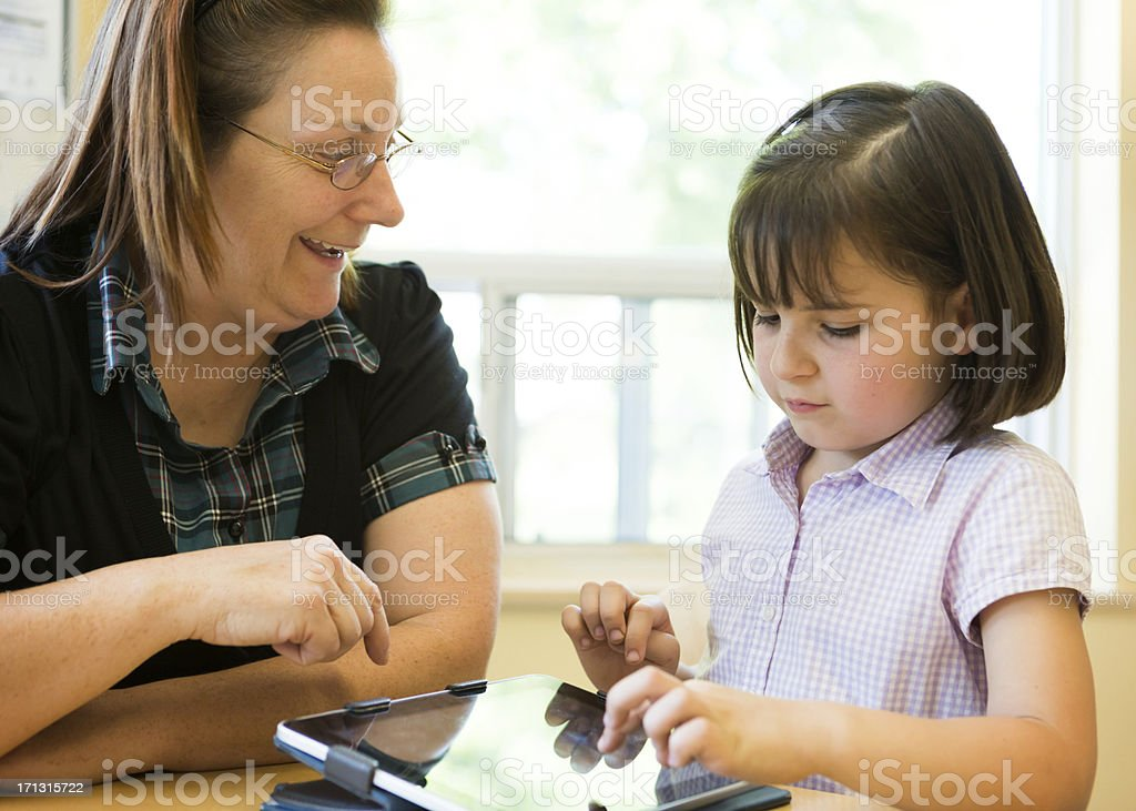Teacher and Students stock photo