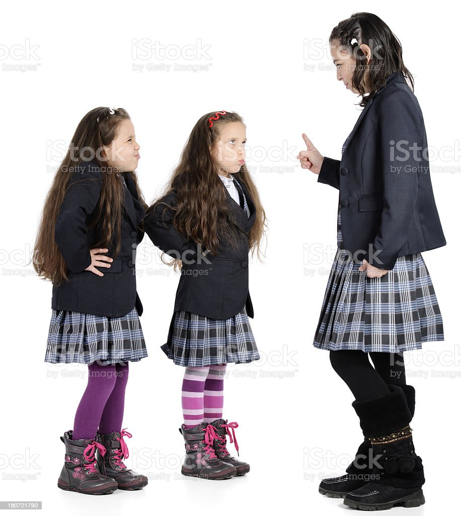 teacher arguing with pupils royalty-free stock photo