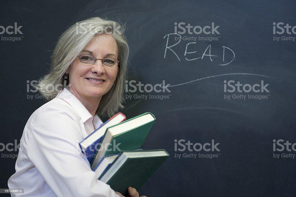 Teacher at the Blackboard (XXL) royalty-free stock photo