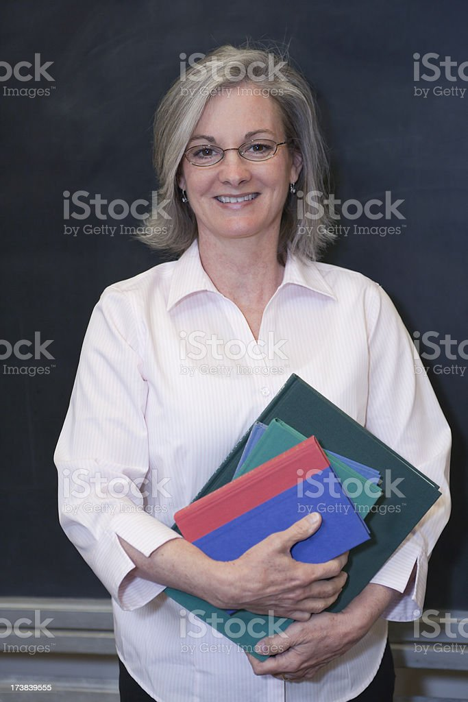 Teacher at the Blackboard (XXL) royalty-free stock photo