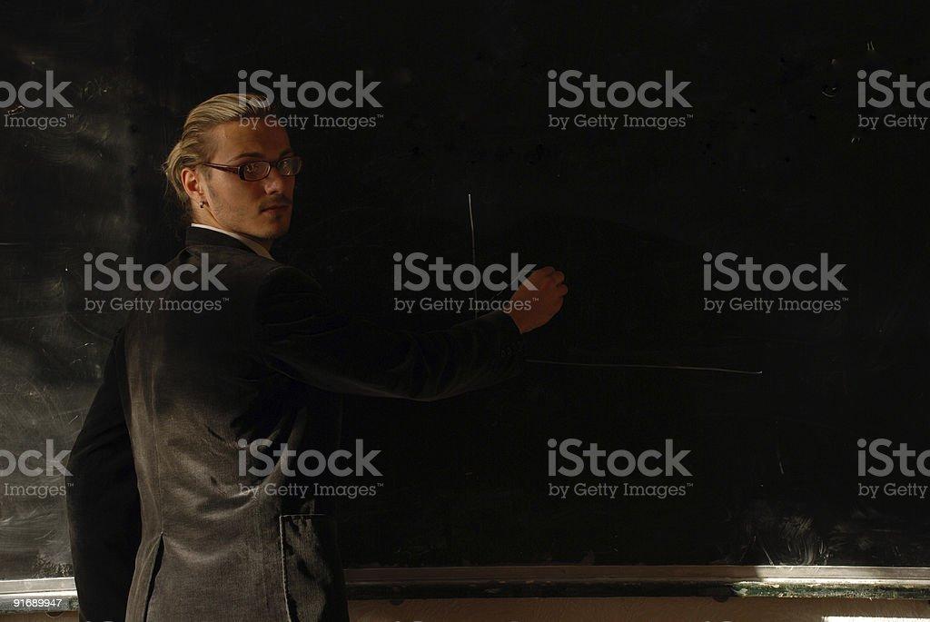 teacher draw the diagram royalty-free stock photo