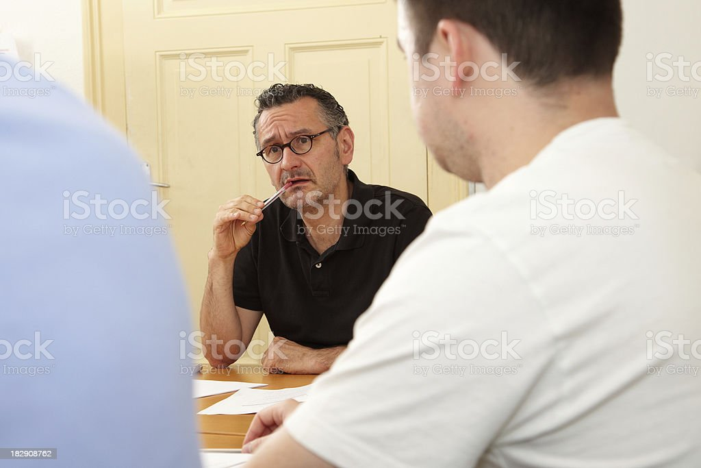 Teacher in adult aducation royalty-free stock photo