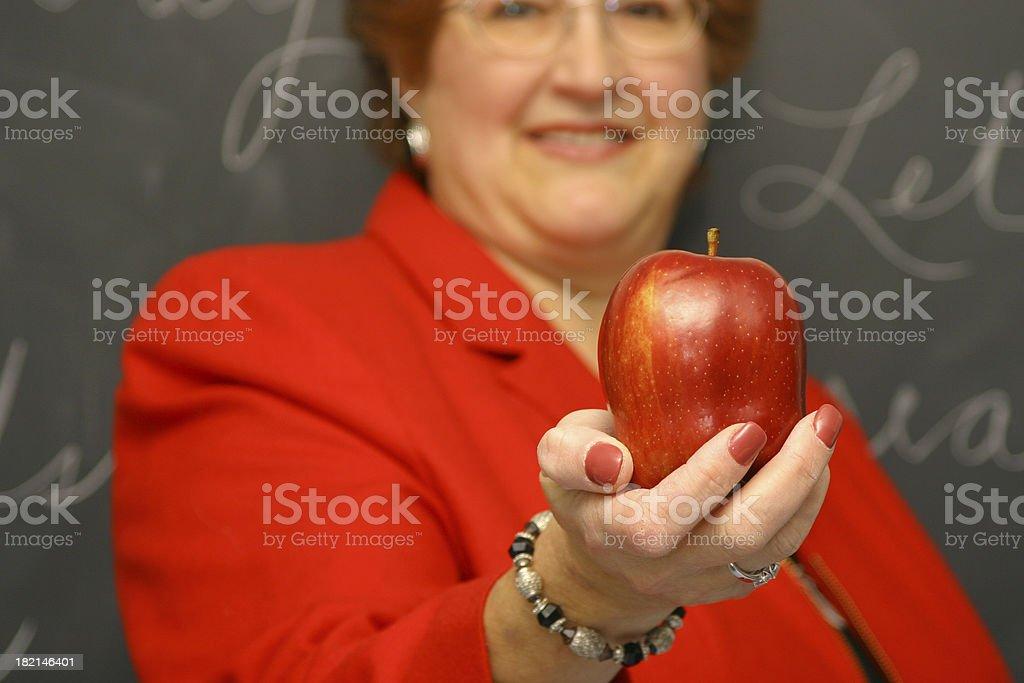 Teacher Series: Apple 1 stock photo