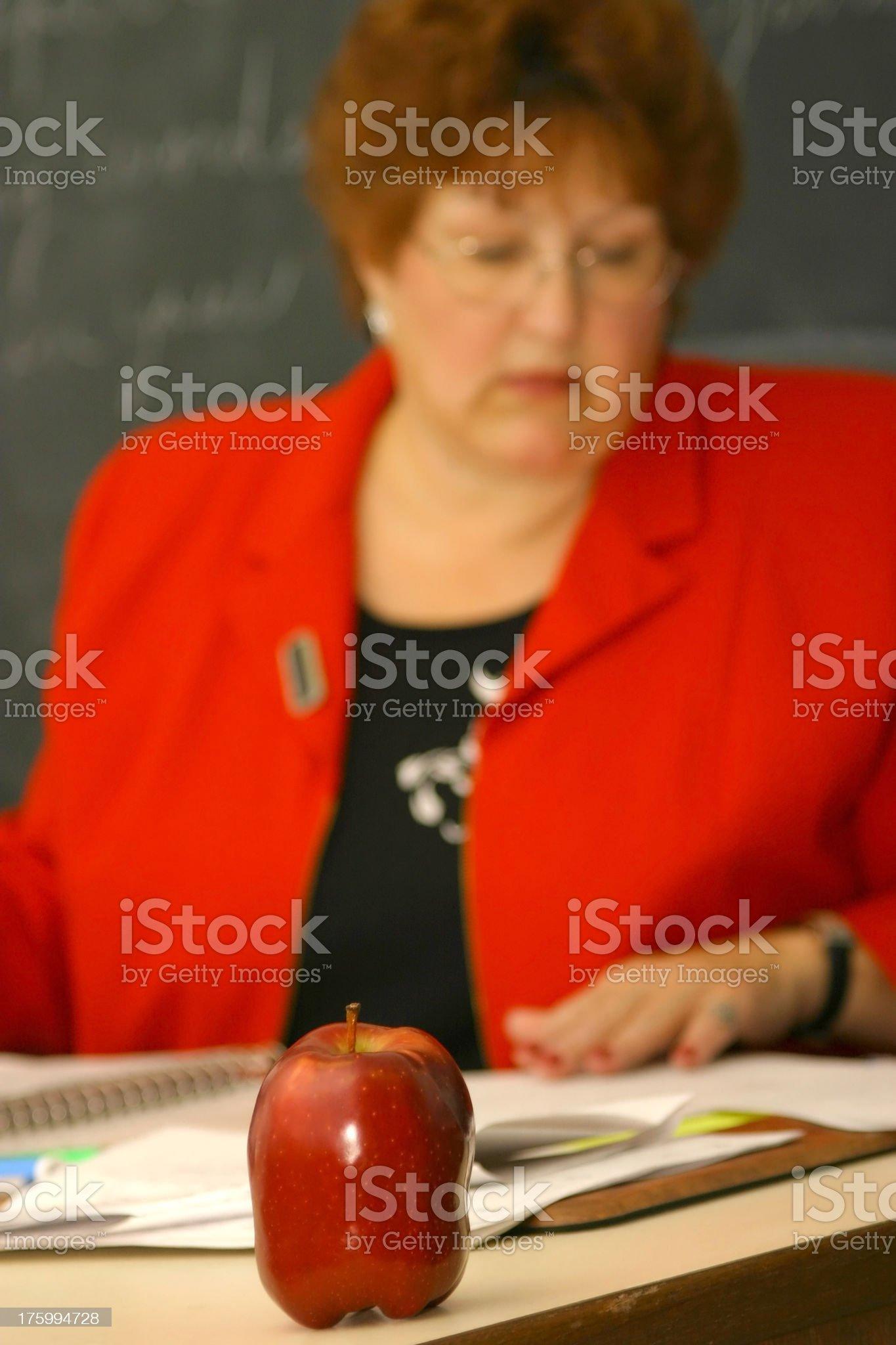 Teacher Series: Busy royalty-free stock photo