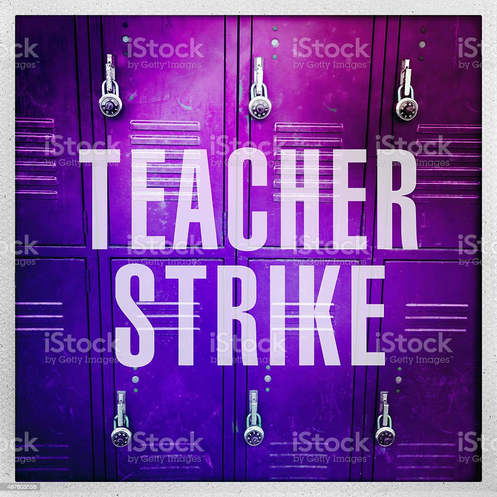 Teacher Strike stock photo
