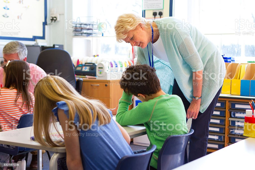 Teacher Support stock photo