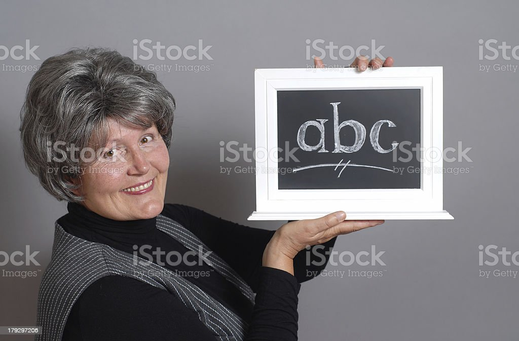 Teacher with ABC royalty-free stock photo