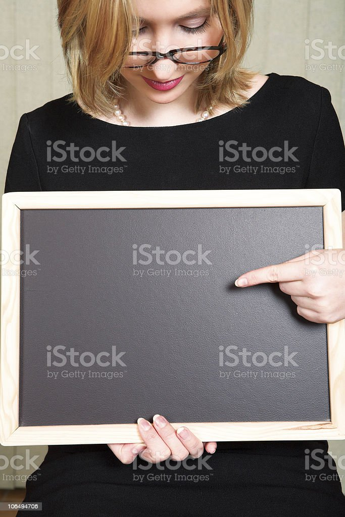 Teacher with blackboard royalty-free stock photo
