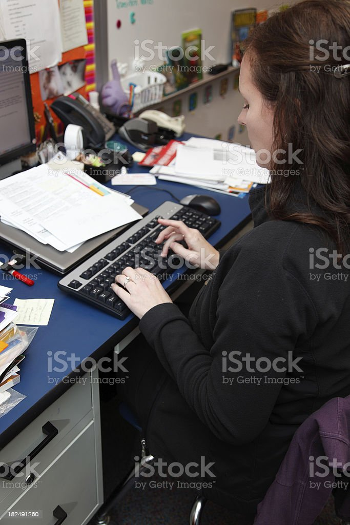 Teacher working royalty-free stock photo