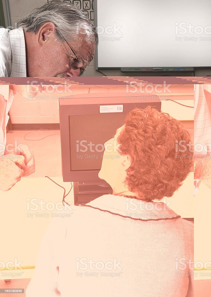 Teachers attention stock photo