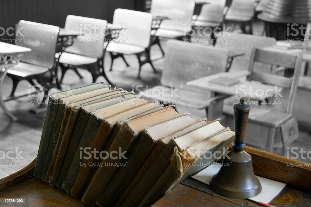 Teacher's Desk ... Vintage stock photo