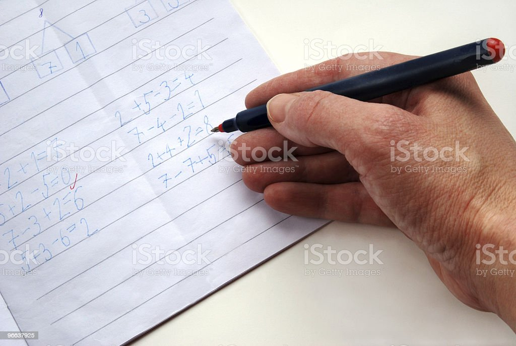 Teacher?s hand stock photo
